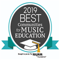 Logo for NAMM Best Communities for Music Education