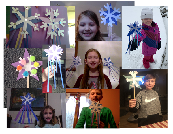 Alden Place Students Create Snow Day Wands