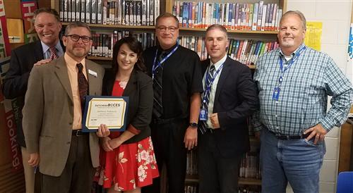 Photo of BOCES and Millbrook CSD Personnel with Student Juliette Valencia
